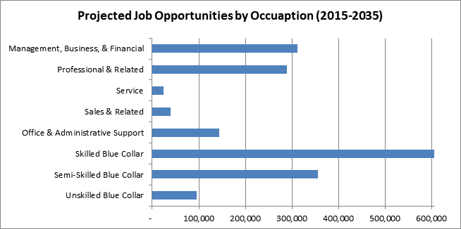 Projected Job Growth by Occupation (2010-2030)